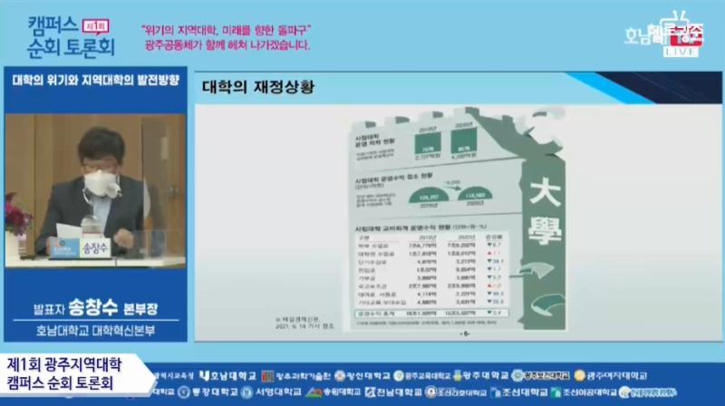 7월 8일 제1회 광주지역대학 캠퍼스 순회 토론회 목록 이미지